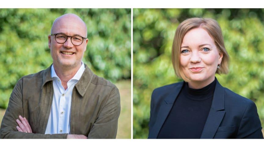 Gunnar Westling, rektor för Kommunala företagens ledarskapsakademi och Anna Lirén, ansvarig för Kommunala företagens ledarskapsakademi. Foto: Fredrik Berglund.