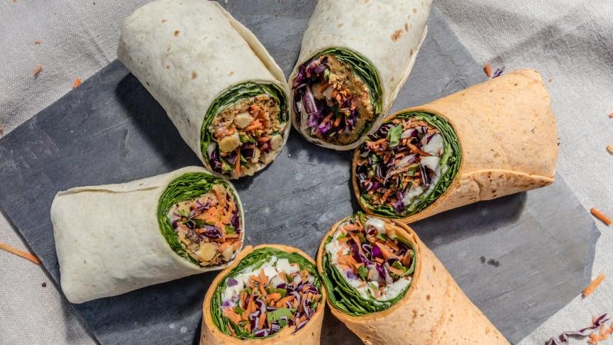 Costa's *NEW* Rainbow Salad Wraps