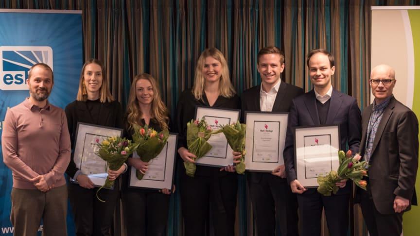 Från vänster: Joakim Appelquist, Vinnova, Anna-Lotta Forsman, Lina Trosvik, Filippa Egnér, Piotr Bukanski, Tiago Enes och Magnus Aronsson, ESBRI.
