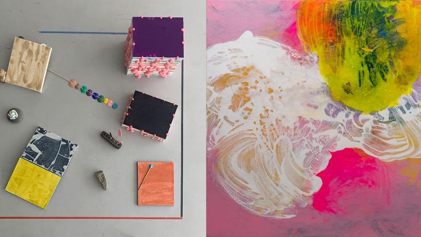 Två av verken som kommer visas i utställningen: Utdrag, verk och foto av Torbjörn Johansson och The bipolar suite av Martin Ålund, foto Tobias Sjödin.
