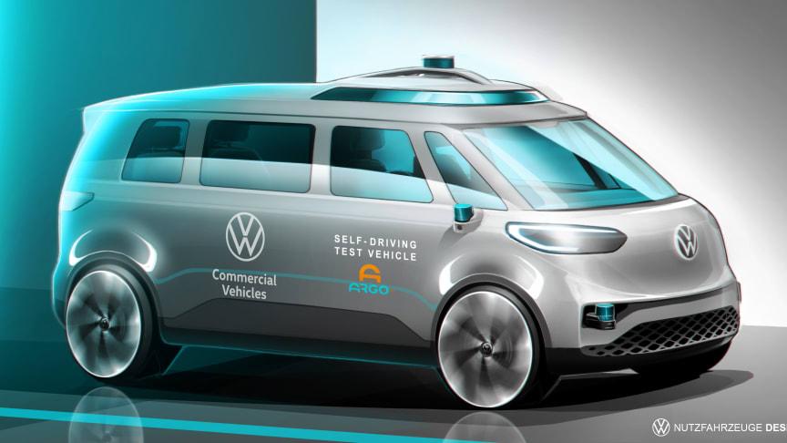 Volkswagen Erhvervsbiler og Argo AI starter internationale tests med autonom kørsel – MOIA som første bruger af ID. BUZZ AD