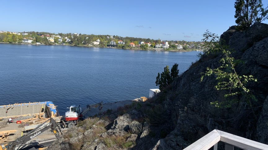 Det nya bostadsområdet på Telegrafberget får egen småbåtshamn
