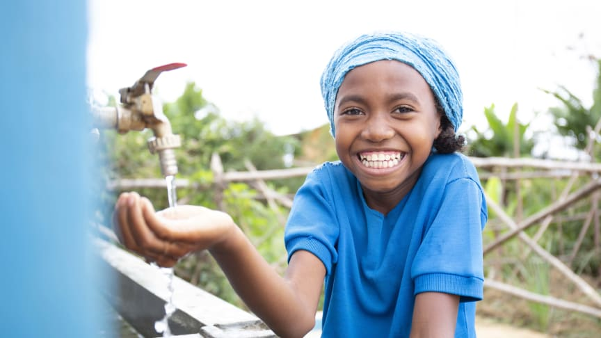WaterAids vision är en värld där alla, överallt, har rent vatten, toaletter och hygien.