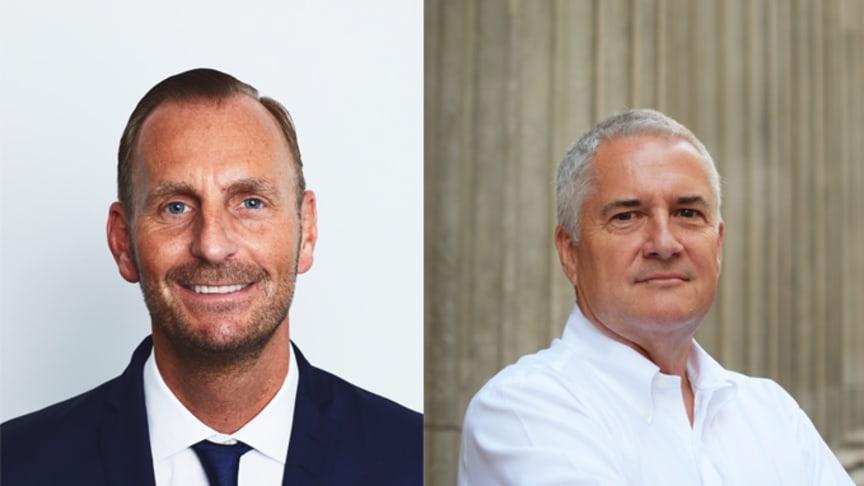 Jesper Aagaard, Europe division president (t.v.) och Martin Ford, UK division president (t.h.).
