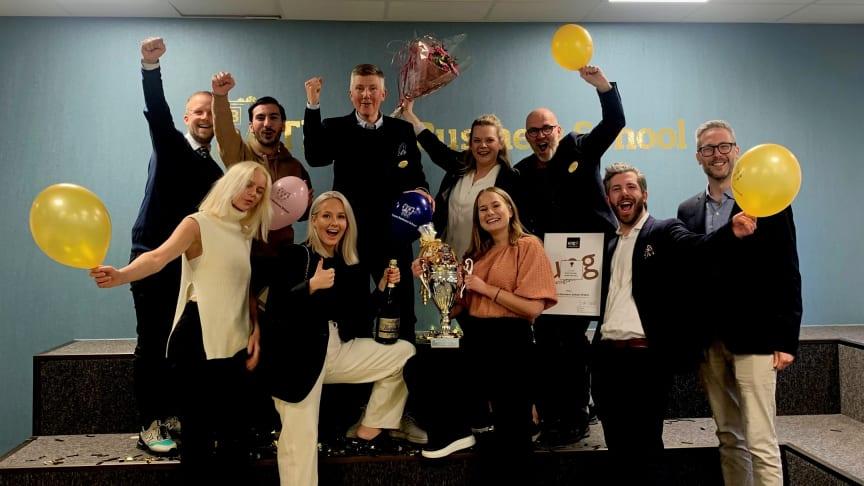 Thoren Business School i Örebro firar utmärkelsen som Årets UF-skola i Sverige.