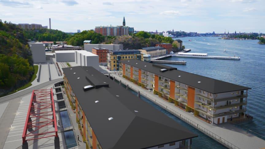 HSB bygger bostäder på vattnet i Stockholm