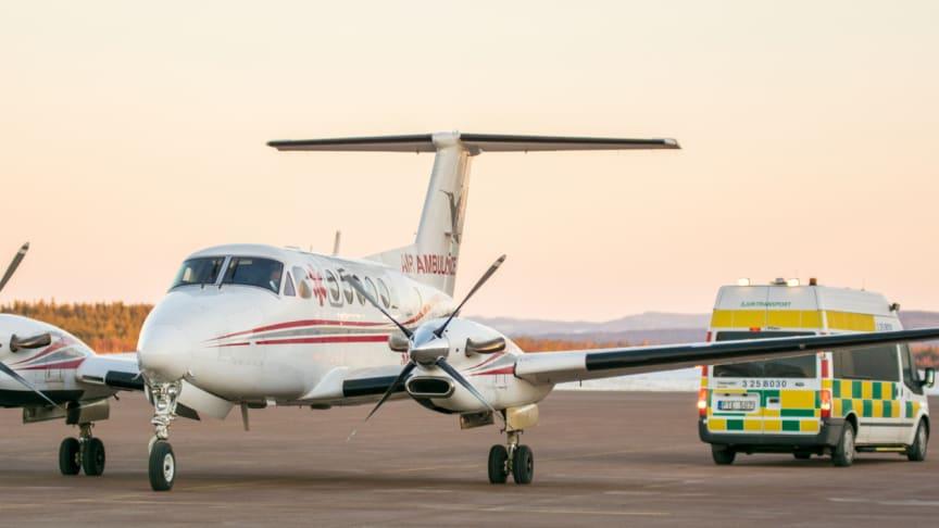 Hummingbird har bas för sina ambulansflyg på Norrköping Airport