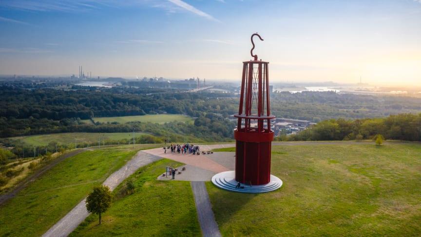 Blick von Halde Rheinpreußen über die Metropole Ruhr. Foto: RTG / Stratmann