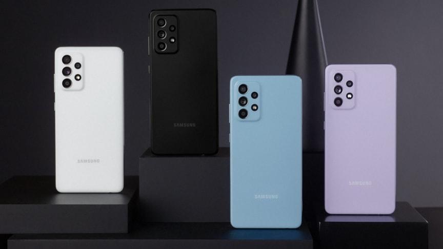 Nå slipper Samsung de nye modellene Galaxy A52, A52 5G og A72