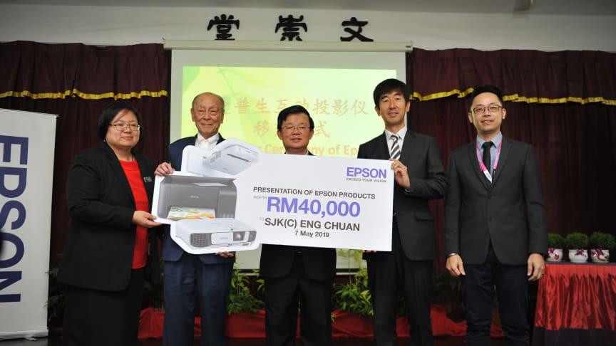 Sponsorship Presentation at the handover ceremony