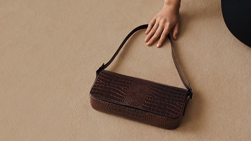 The L.A bag i croco-präglat läder