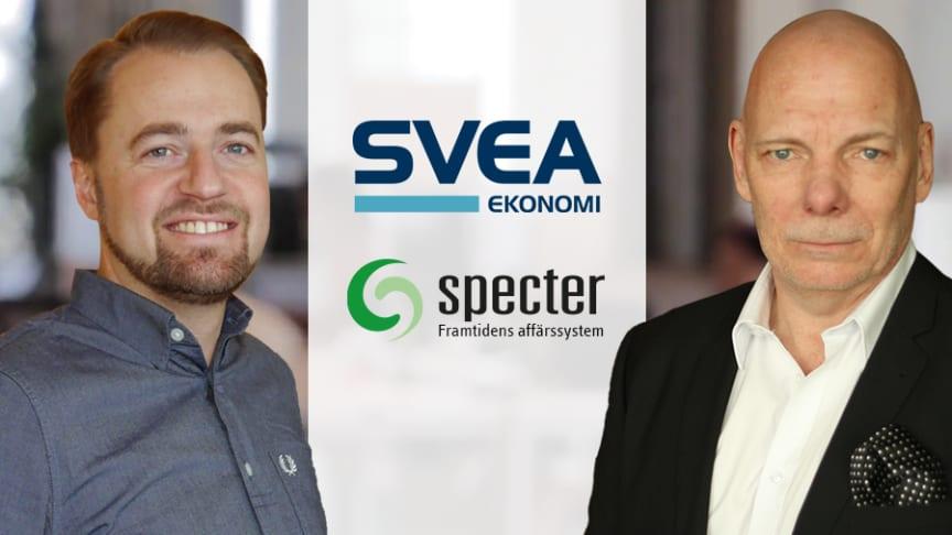 Mattias Bratt, VD, Specter och Torbjörn Malmqvist, Partner Manager, Svea Ekonomi