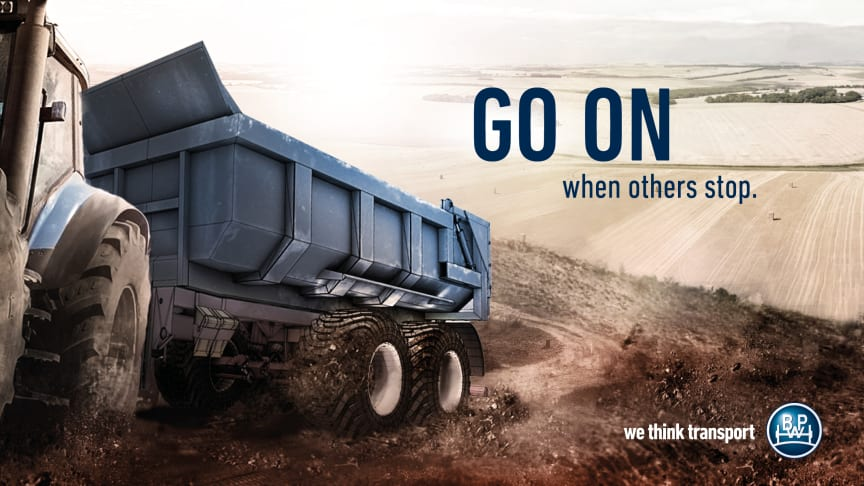 "Under the motto ""Go on when others stop"", BPW will be present at Agritechnica in hall 15, stand E05."