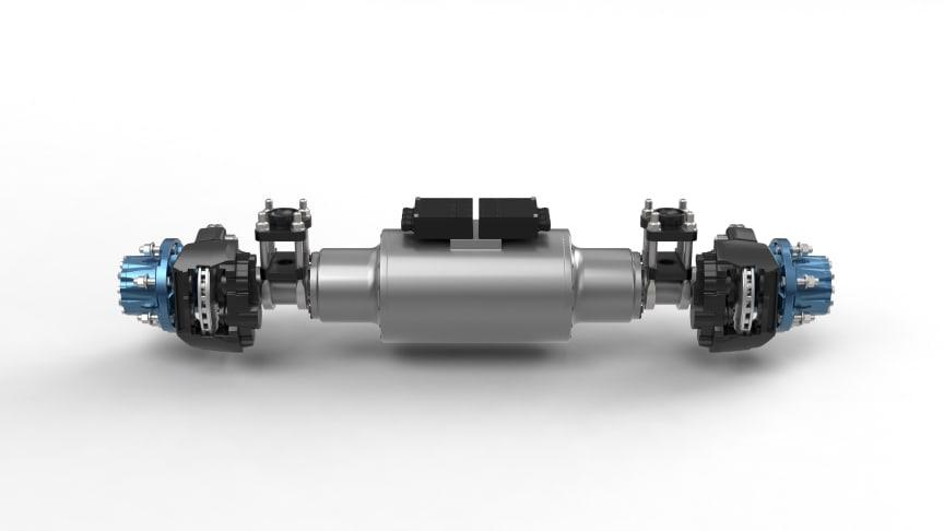 BPW-Antriebsachse für Fahrzeuge bis zu 7,5 Tonnen Gesamtgewicht mit 6.580 Nm Drehmoment an der Hinterachse und 84 kWh Batterieleistung