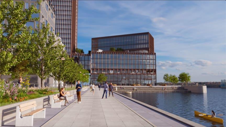 Filmen Värtahamnen – en stad i staden visar på tre minuter hur den nya stadsdelen växer fram.