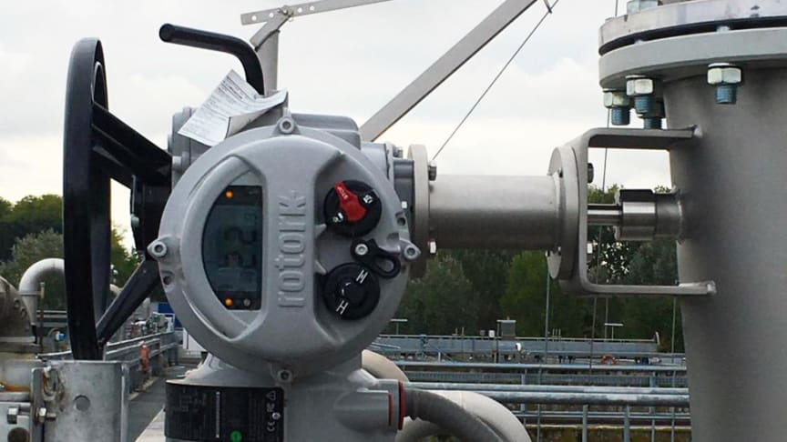 Rotork IQ actuators in place at the Milano San Rocco Wastewater Treatment Plant.