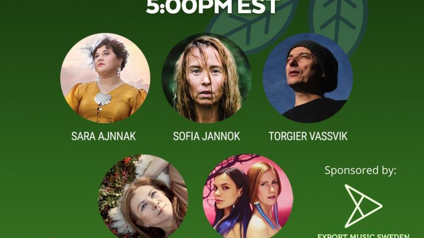MTA Production i samarbete med Export Music Sweden presenterar The Sounds of Sápmi den 10 juni med bland annat Sara Ajnnak, Vildá, Mari Boine, Sofia Jannok och Torgeir Vassvik