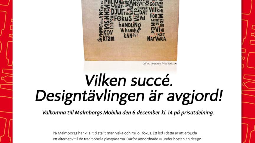 IM och Malmborgs arrangerar prisutdelning 6 december 14:00