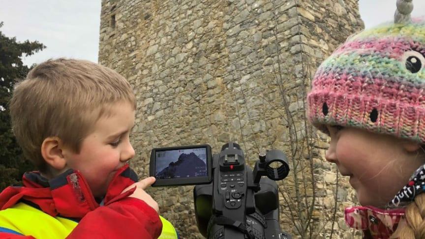 Budding film directors at Drumin Castle