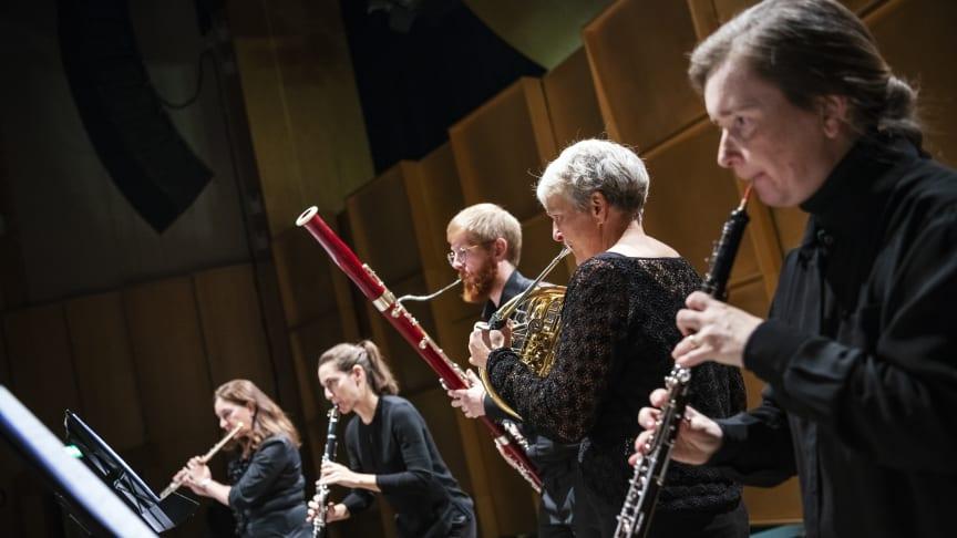 Nordiska Blåsarkvintetten kommer spela en nyskriven fanfar, skriven av Nylandbaserade tonsättaren Fredrik Högberg. Foto Lia Jacobi.