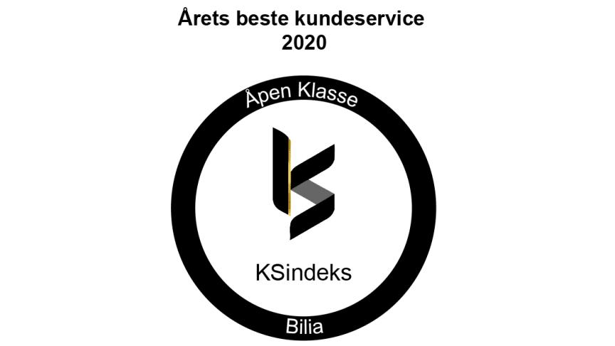 Diplom Årets beste kundeservice 2020 - Åpen Klasse