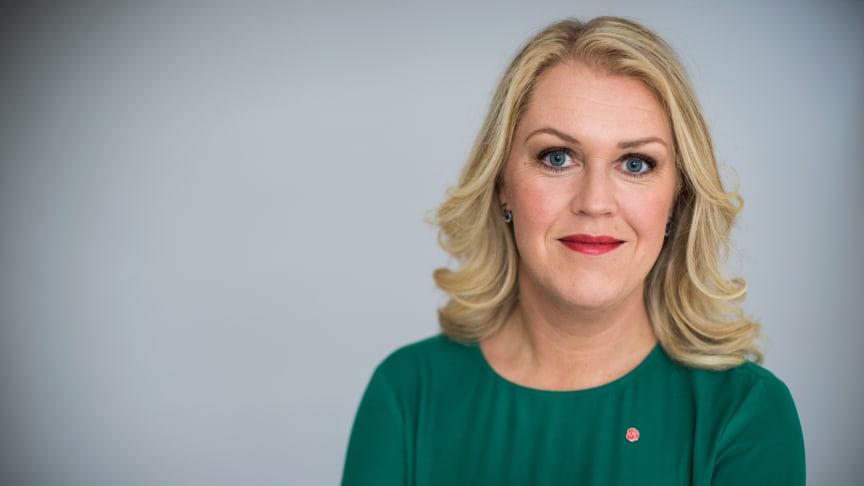 Måndag 1 juli deltar socialminister Lena Hallengren (s) i ett seminarium om psykisk ohälsa i Sverige och i övriga Europa. Medicinska experterna docent Lena Flyckt och professor Anders Håkansson är två av övriga deltagare.(foto Kristian Pohl)