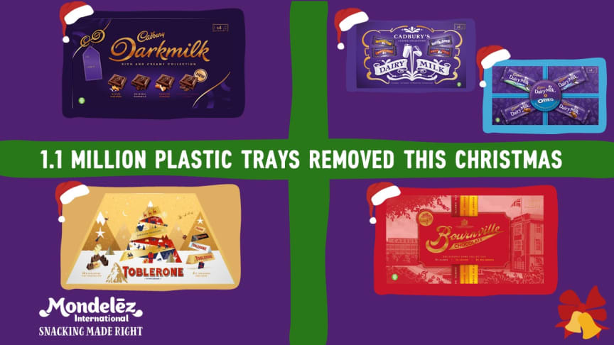 Mondelēz International removes 1.1 million plastic trays from all adult selection boxes in UK & Ireland this Christmas