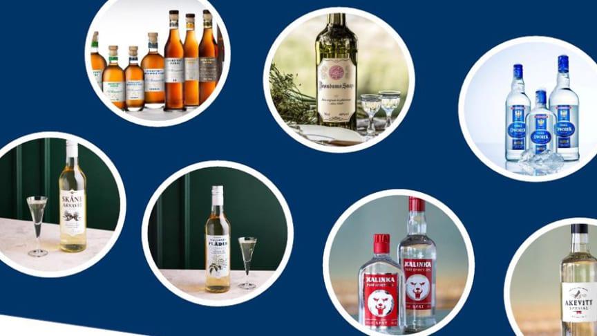 Galatea breddar erbjudandet med flera varumärken inom spritsegmentet, bl a Hallands Fläder, Grönstedts och Skåne Akvavit.
