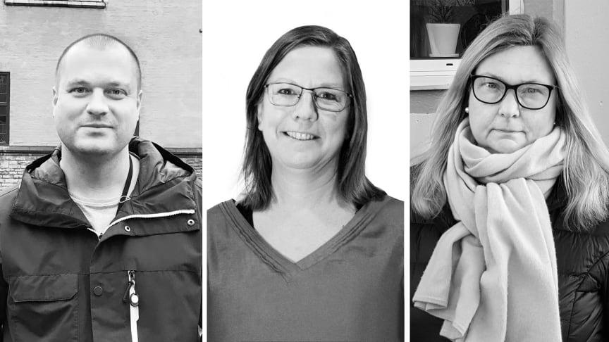 Childhoodprisets finalister 2019: Andreas Grym, Eva Thored och Maria Blomkvist Rydell.