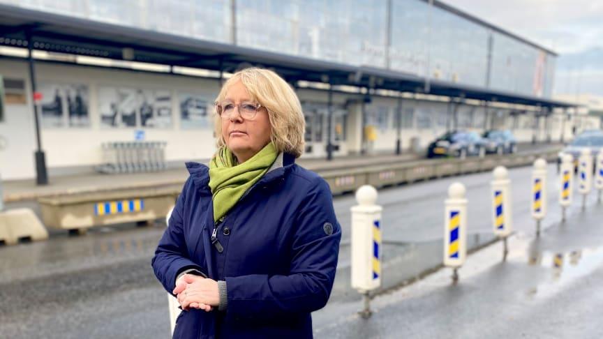 Irene Svenonius (M) på Bromma flygplats