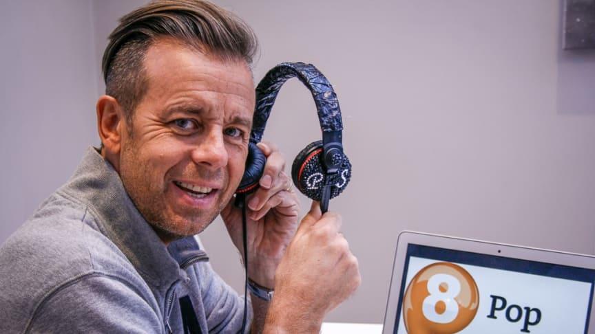 PAT SHARP TIL NORSK RADIO: Den kjente 80-tallshelten Pat Sharp skal ha faste ettermiddagssendinger på P8 Pop hver lørdag og søndag. FOTO: P4