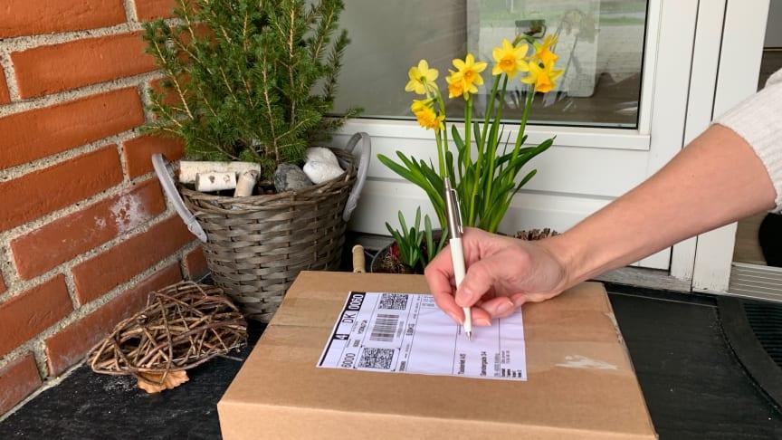 Modtagere kan nu kvittere for pakkelevering på selve pakkelabelen.