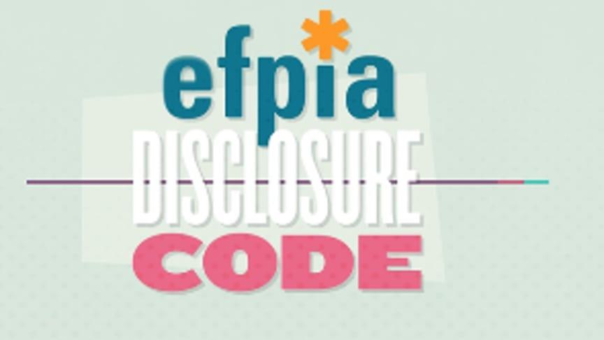 EFPIA, den europeiska paraplyorganisationen för läkemedelsindustrin, antog 2013 en ny etisk uppförandekod.