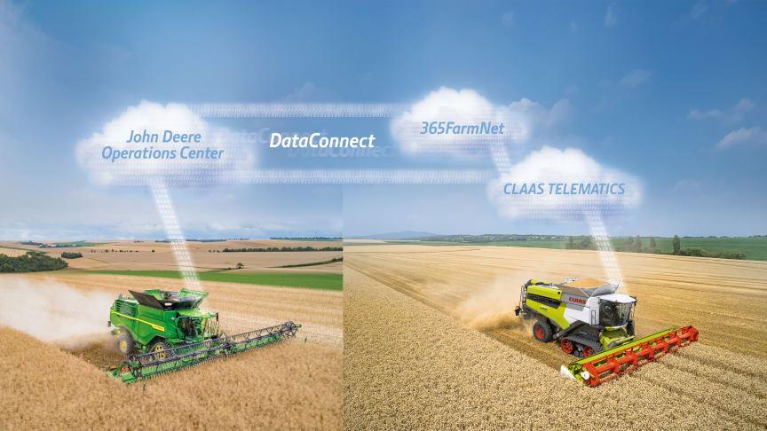 Nu kan lantbrukare fritt utbyta maskindata mellan CLAAS och John Deere.