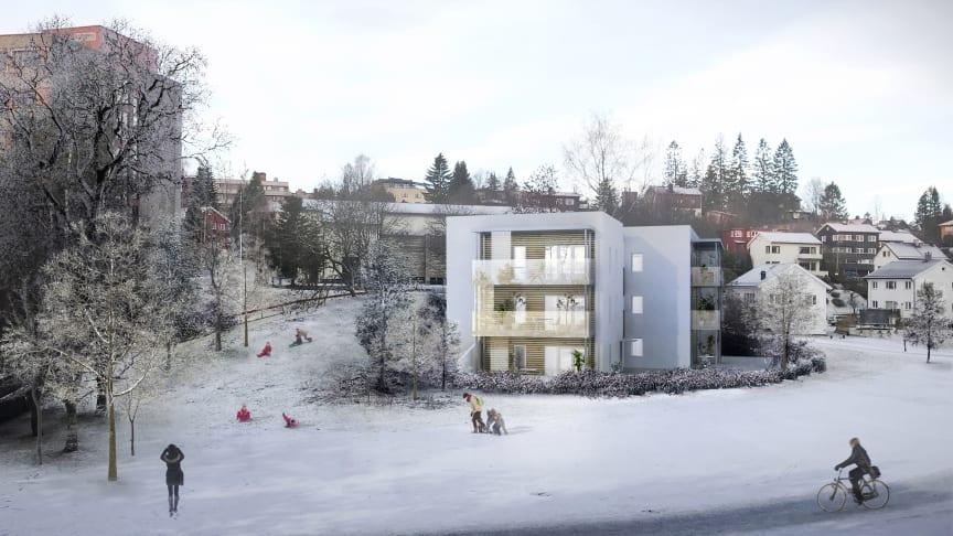 Slik blir det seende ut i Røahagan 1 når byggeprosjektet er ferdig (Tegning: Tegn_3).