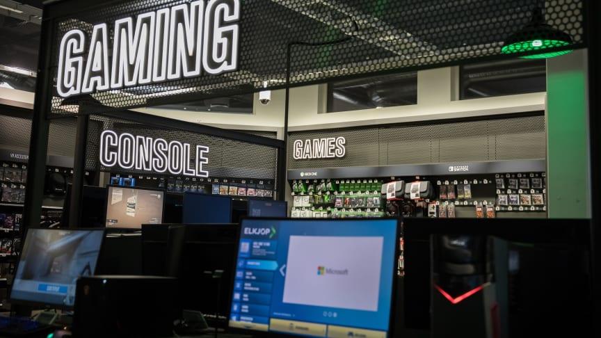 Det nye gaming-konseptet i utvalgte Elkjøp-butikker viser at elektronikkjeden tar gaming på alvor. Foto: Elkjøp Norge