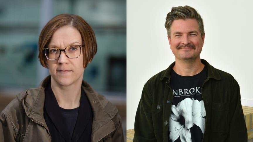 Genusforskaren Hanna Bäckström Olofsson och sociologen Johan Örestig, båda verksamma vid Umeå universitet.
