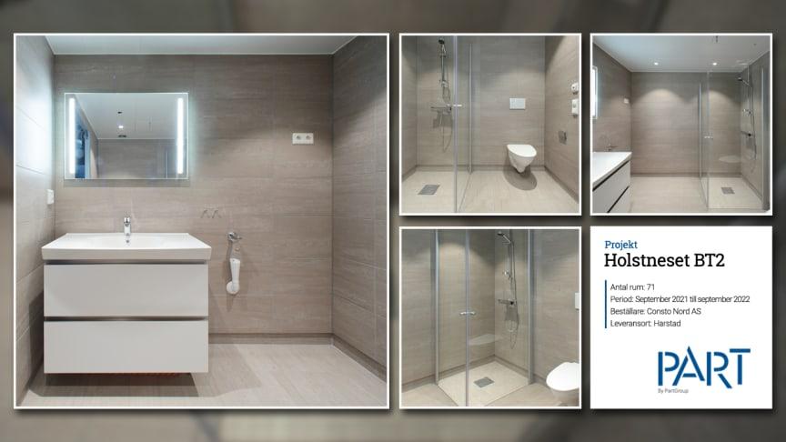 Part levererar 71 badrum till projektet Holstneset BT2.