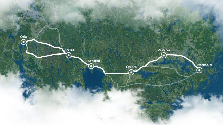 En snabbare järnvägsförbindelse mellan Oslo och Stockholm är Skandinaviens mest lönsamma järnvägsprojekt