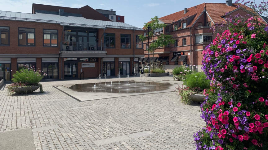 Unionstorget ingår i Kävlinges centrumutvecklingsområde. Fotograf: Lotta Engvall