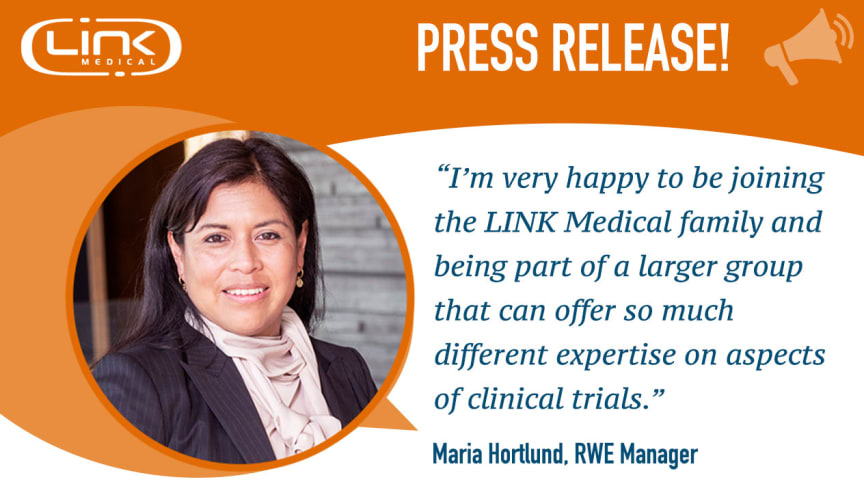 Maria Hortlund joins the Market Access team as a RWE Manager.