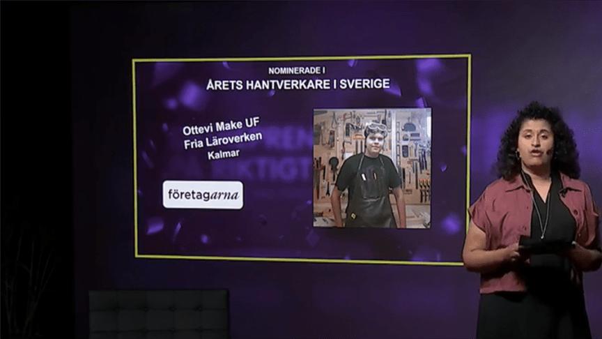 Olle Ottevi, elev på Kalmar Fria Läroverk, vann silver i SM i Ung Företagsamhet