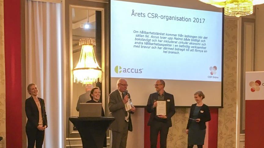 Accus utsedd till årets CSR-organisation CSR Öresund