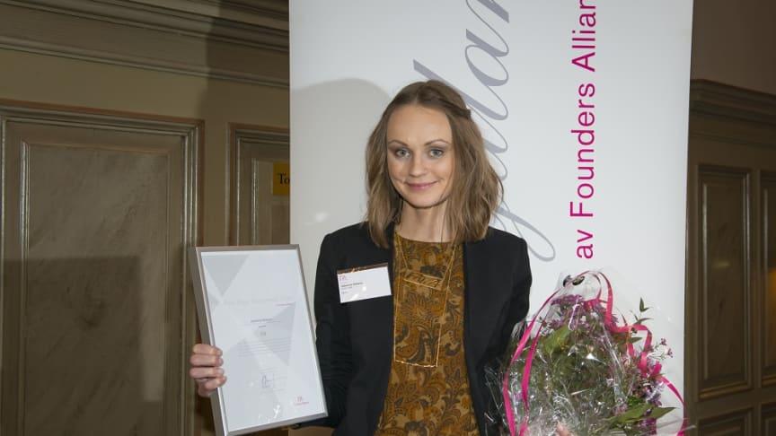Grundaren av JohannaN röstades fram till Årets Unga Entreprenör Norr