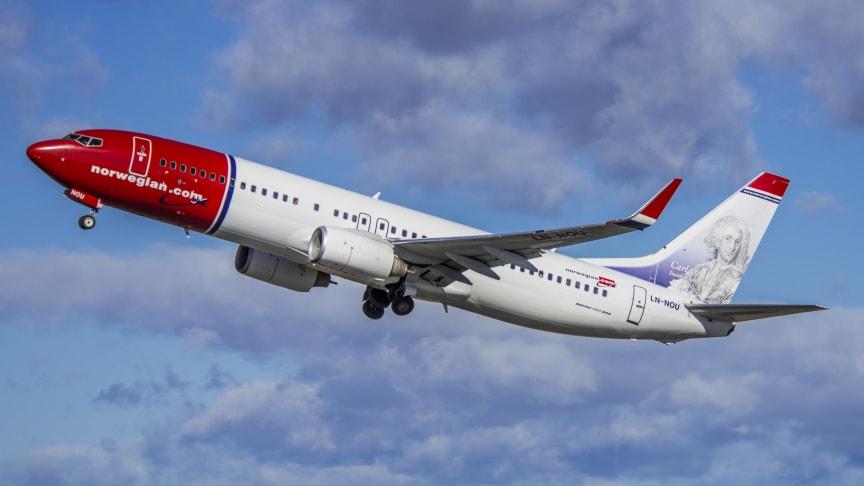 Norwegianin matkustajamäärä ja käyttöaste kasvoivat marraskuussa