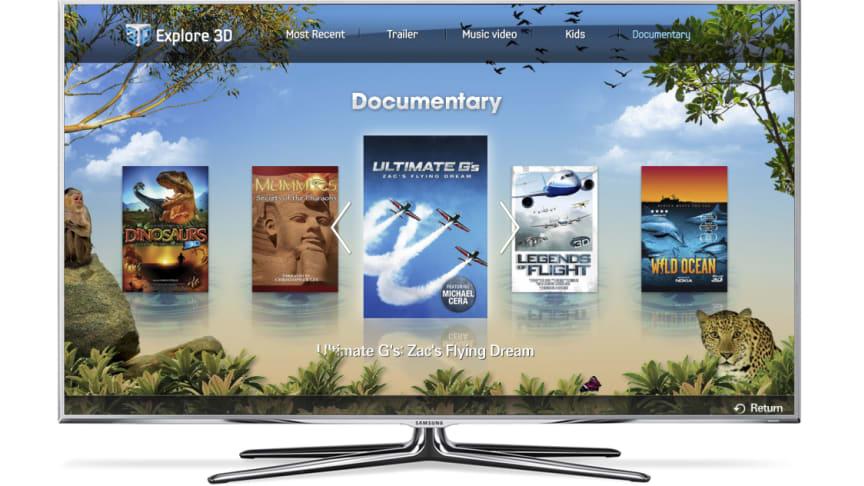 Utforska 3d med ny app för smart-tv