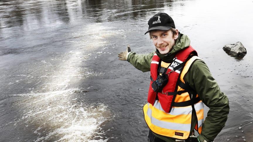 Johan Leander, doktorand på Institutionen för ekologi, miljö och geovetenskap och Företagsforskarskolan vid Umeå universitet. Foto: Jörgen Wiklund