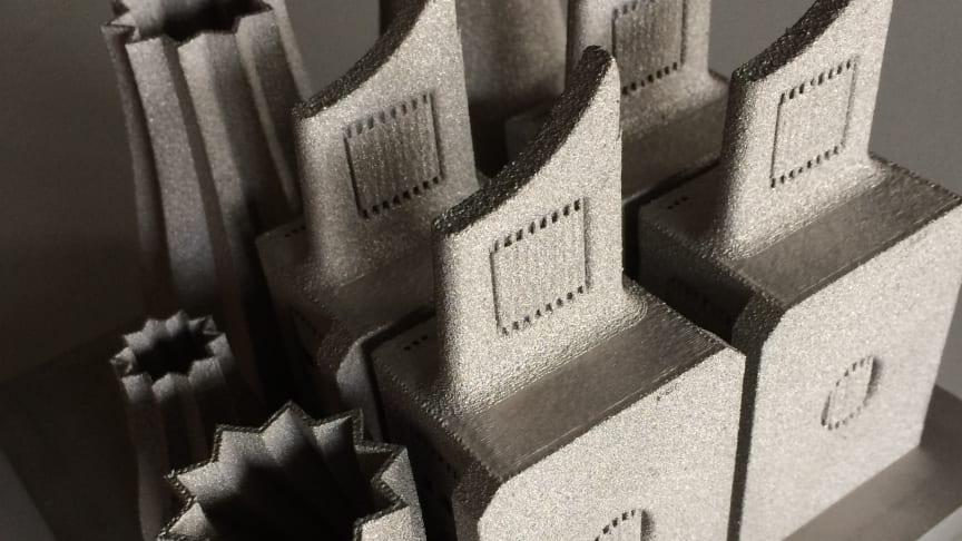 Material tillverkat genom additiv tillverkning, eller 3D-printing. Foto: Mittuniversitetet