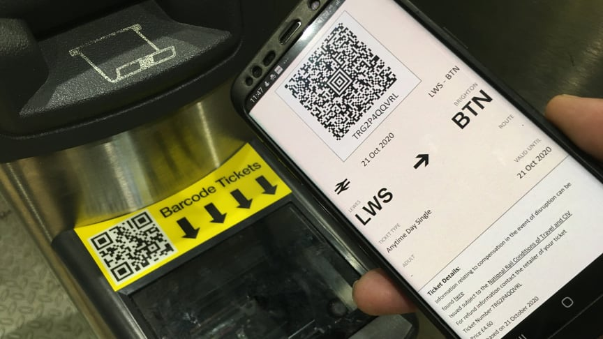 Smartphone e-tickets can now be used at 11 more stations in Sussex and Surrey