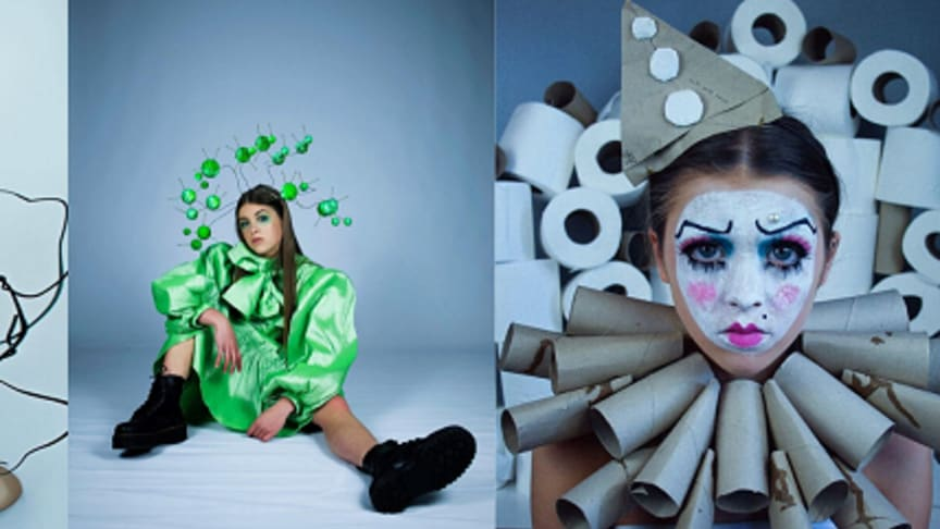 Some of the images created by Fashion Communication student Fauve Wright, based on her experiences of the Covid-19 lockdown